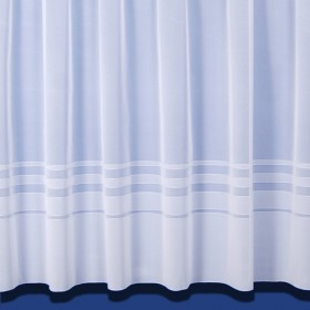 New Leanne Net Curtain In White - Sold By The Metre