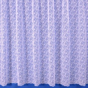 Paisley Net Curtain in White - Sold By The Metre