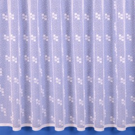 Quebec Net Curtain in Bright White - Sold by the Metre