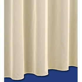 Sue Plain Net Curtain in Cream - Lead Weighted Bottom - Sold By The Metre