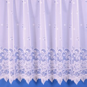 Vanessa Net Curtain in White - Sold By The Metre