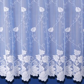Vermont Net Curtain In White - Sold By The Metre