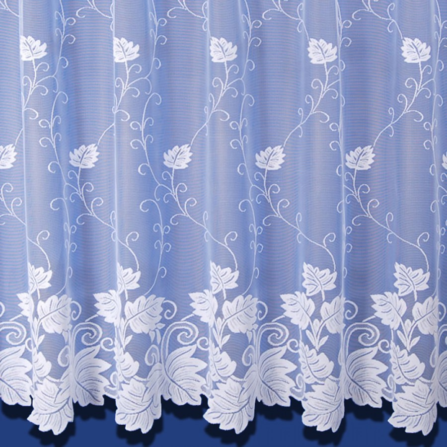 Vermont Net Curtain In White Sold By The Metre