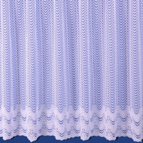 Violet Net Curtain in White - Sold By The Metre
