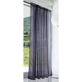 Slot Top Voile Panels (Pair) - Finished In Black