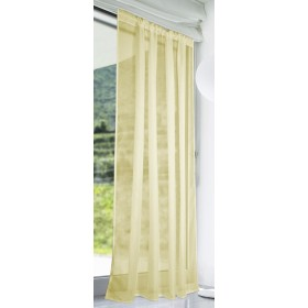 Slot Top Voile Panels (Pair) - Finished In Dark Cream