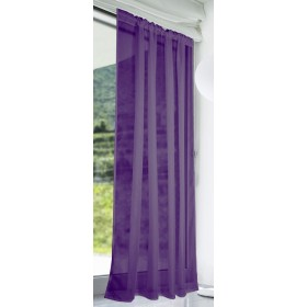 Slot Top Voile Panels (Pair) - Finished In Purple