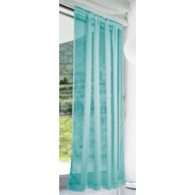 Slot Top Voile Panels (Pair) - Finished In Teal