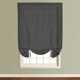 Tie Blind Voile Panels - Finished In <br> Black
