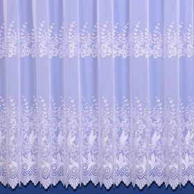Vienna Embroidered Voile Net Curtain - Finished In White