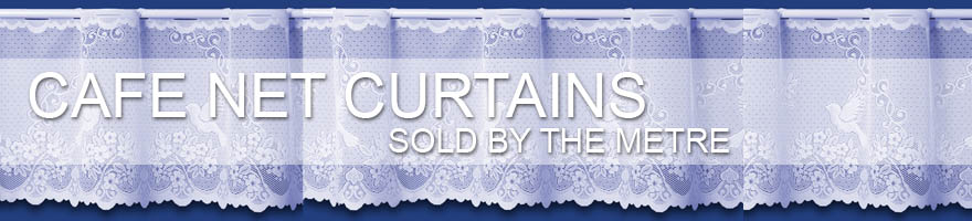 Browse our full range of cafe net curtains sold by the metre